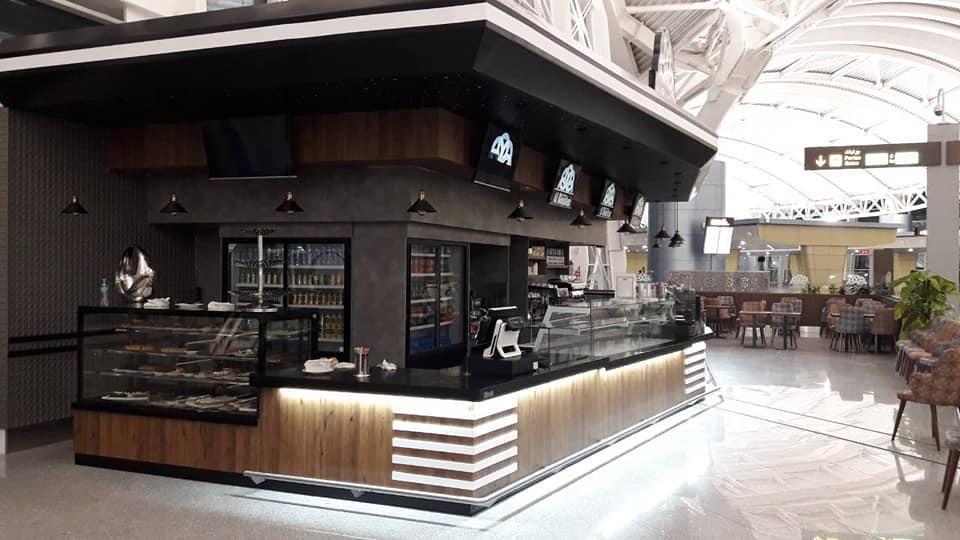 Agencement café al boustan  aeroport  ALGER