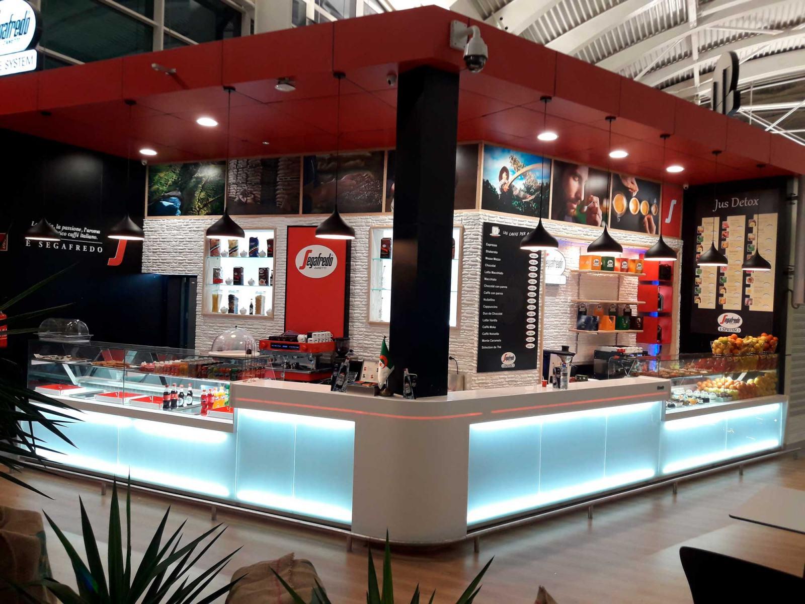 Agencement café segafredo coffee system