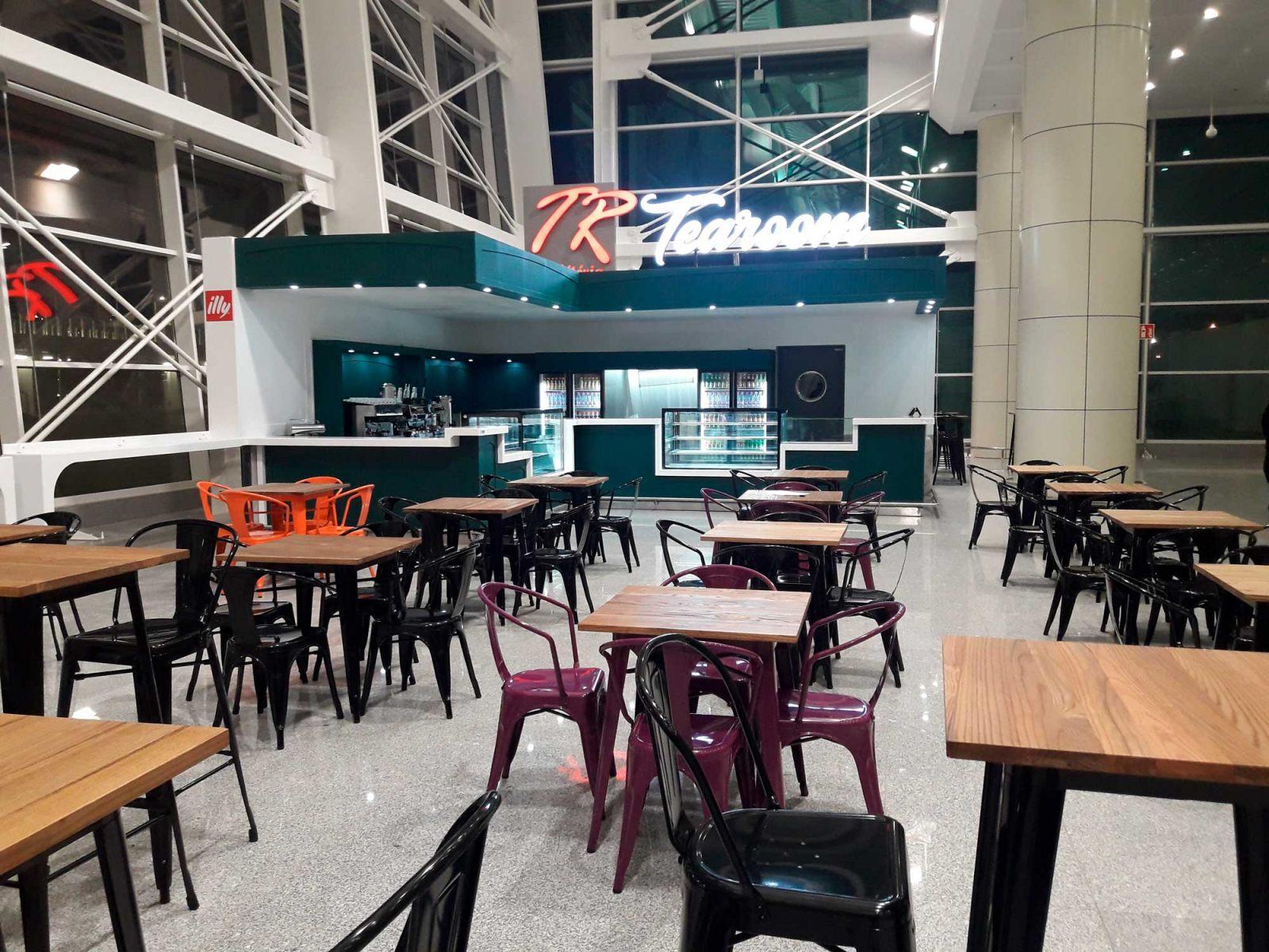 Agencement café tr tea room aeroport ALGER